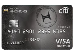 Citibank Hilton HHonors Reserve Credit Card